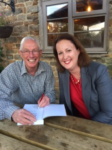 Bruce Duncan, author of The Loan Soldier meets Victoria Prentis MP